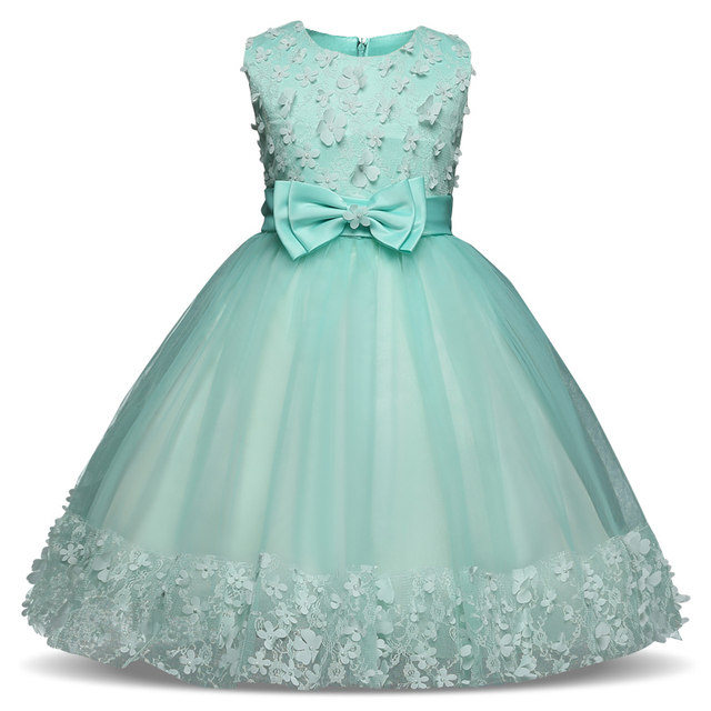 Online Shop Lace Flower Fancy Party Dresses For Girl Baby Child ...