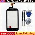 Para Texet TM 4072 X-básico TM-4072 Digitador Da Tela de Toque Do Painel de Vidro Sensor Assembléia + Ferramenta Frete grátis