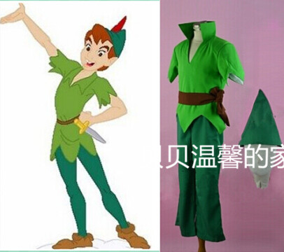 Adult Men Peter Pan Costume Green Fancy Dress Carnival Party Cosplay Costume Custom Made D0528