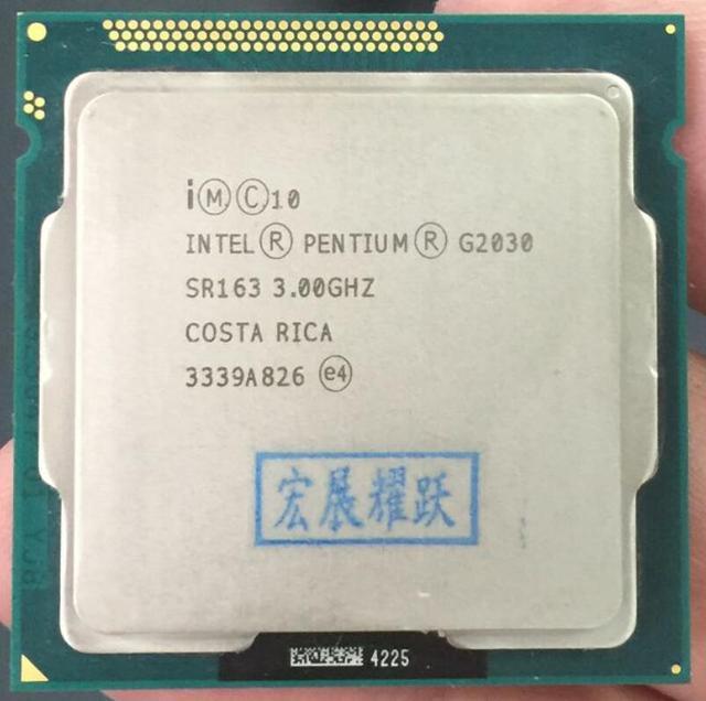 Процессор Intel Pentium G2030 (3 м Кэш 3,0 ГГц) Процессор LGA1155 100% работает должным образом кабельный адаптор Процессор