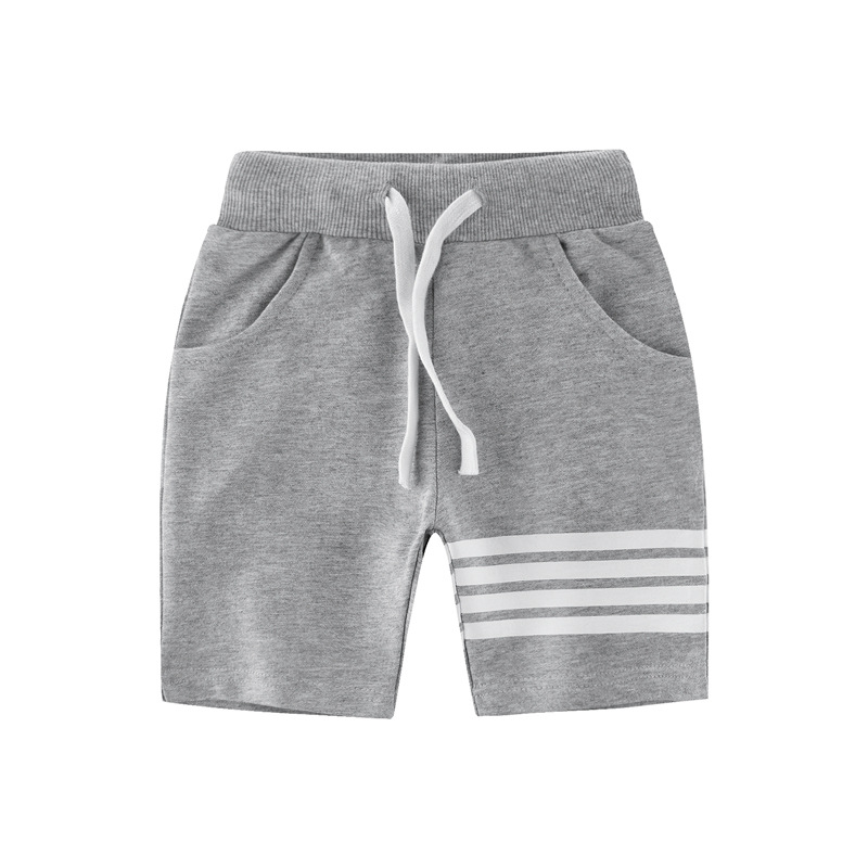 2018 Autumn Brand Boys Pants Striped Kids Bottom Casual Cotton Shorts Pants Baby Toddler Boys Shorts Pants Children's Shorts striped tape applique velvet pants