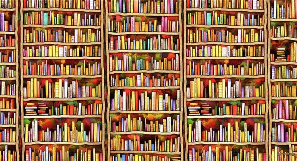 Bookshelf Background For Photo