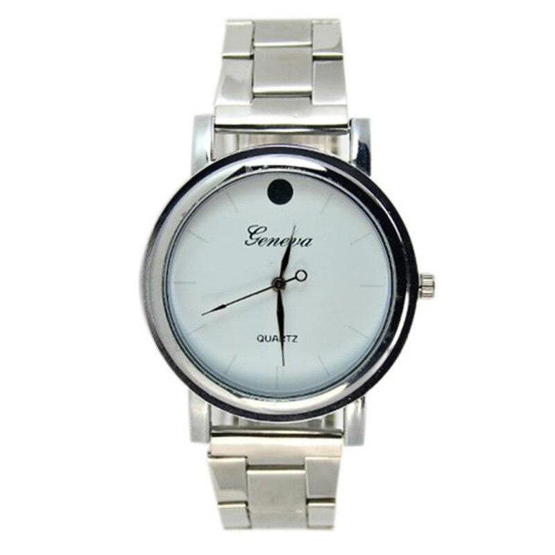 27ceefb8652a 2017 moda casual reloj mujeres hombres mujeres contratado moda relojes  banda de acero relojes alta calidad DORP envío Venta caliente