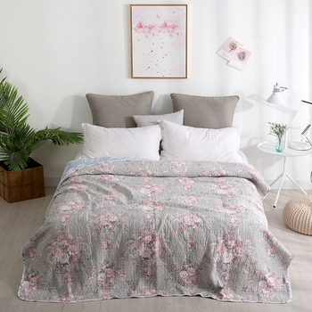 Floral printed Shabby Chic Bedspread/Coverlet/Quilt Set Washed Cotton Quilted Soft Bedspread set Twin Full size Bed set