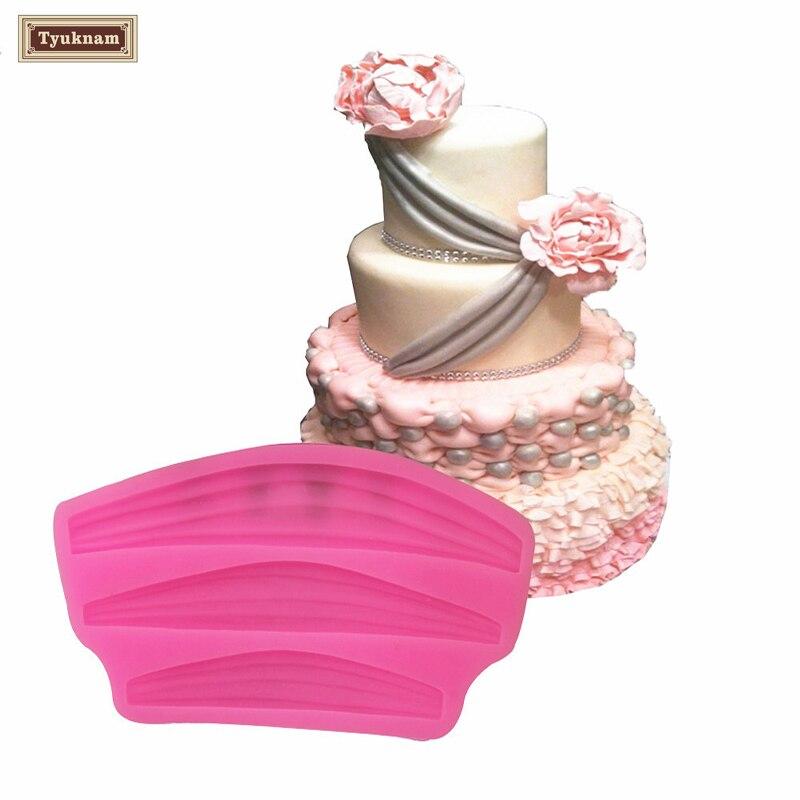 Cake Ribbon Swag Mould Silicone Fondant Border Icing