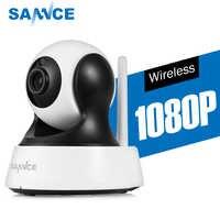 SANNCE 1080 1080P HD の CCTV IP カメラ IR カットデイ/ナイトビジョン P2P 屋内 2MP ワイヤレス無線 lan セキュリティカメラ監視モニター