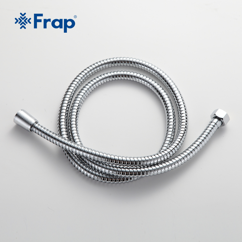 FRAP 1.5 M Silver Stainless Steel Flexible Shower Hose Plumbing Hose Bath Products Bathroom Accessories Water Pipe F43