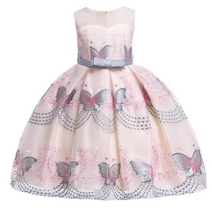 Image 5 - Butterfly embroidery flower girl princess party dresses for weddings kids girl clothes children clothing baby costume L5088