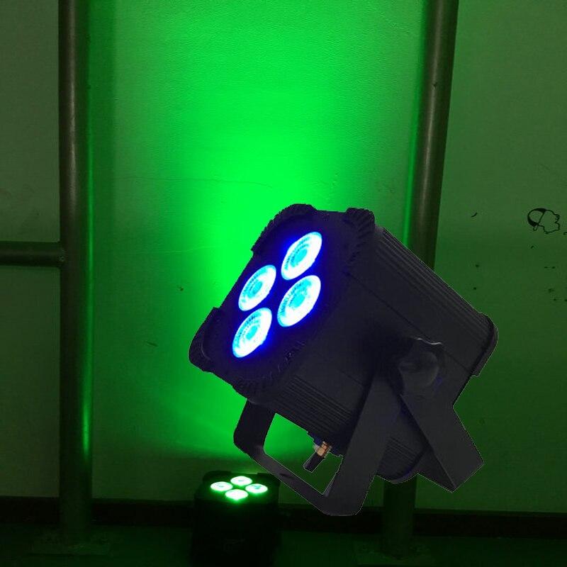 Новая дешевая аккумуляторная свет этапа 4*18 Вт 6in1 RGBAW УФ Батарея работает светодио дный Par света с дистанционным Управление светодио дный Par64 ...