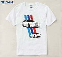 Vintage Dry Fit T Shirt Men BMW E36 M3 Supercar Print Funny T Shirt 100 Cotton