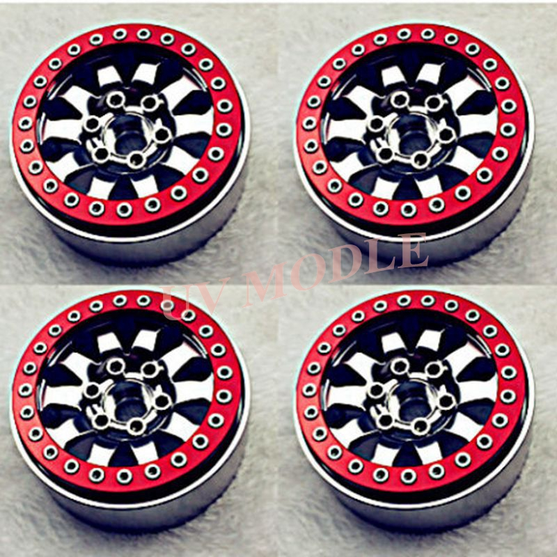4 PCS RC 1 10 Crawler 1 9 Alloy Beadlock Wheel Rims for SCX10 CC01 F350