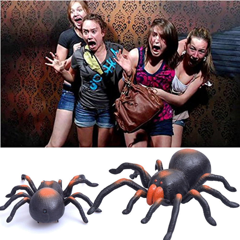 Funny Simulation Infrared RC Remote Control Scary Creepy Insect Tarantula Spider Toys Halloween Gift For Children Boy Adult