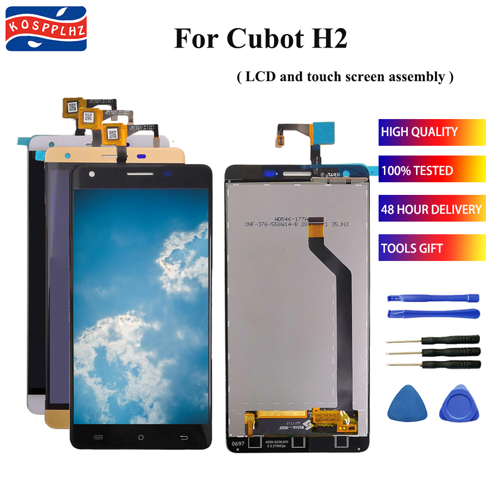 5.5 In New For CUBOT H2 LCD Display+Touch Screen Digitizer Assembly Replacement Repair Panel Glass H 2 +tools