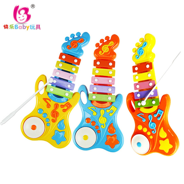 O novo de interesse educacional infantil plástico brinquedos criança instrumento musical guitarra de piano