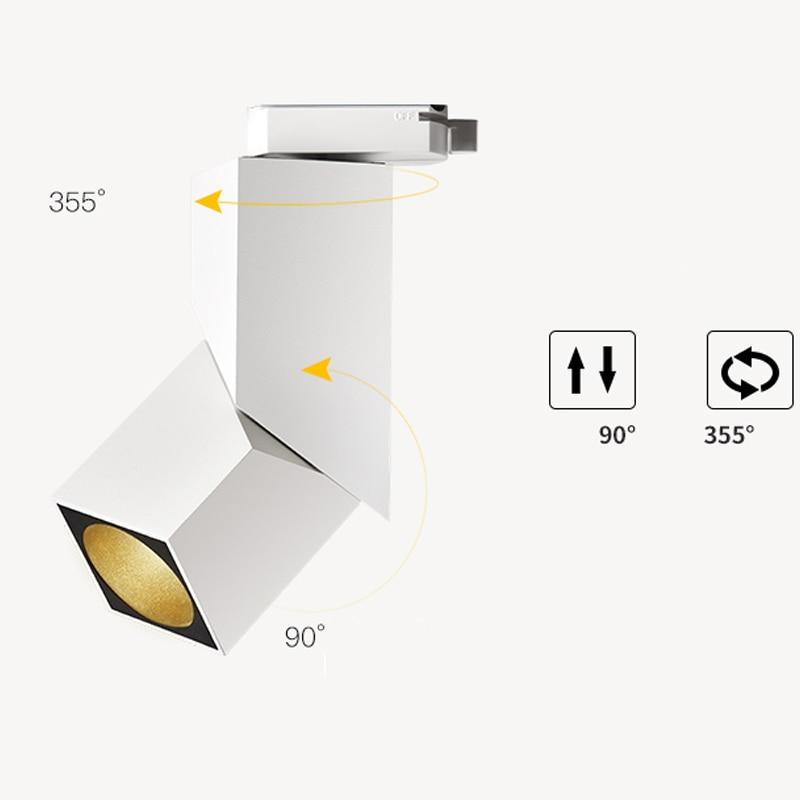 2018 Новая мода Книги по искусству cube 7 Вт 12 Вт 15 Вт CREE свет следа регулируемый угол железнодорожных лампа фон приспособление освещения точечн...