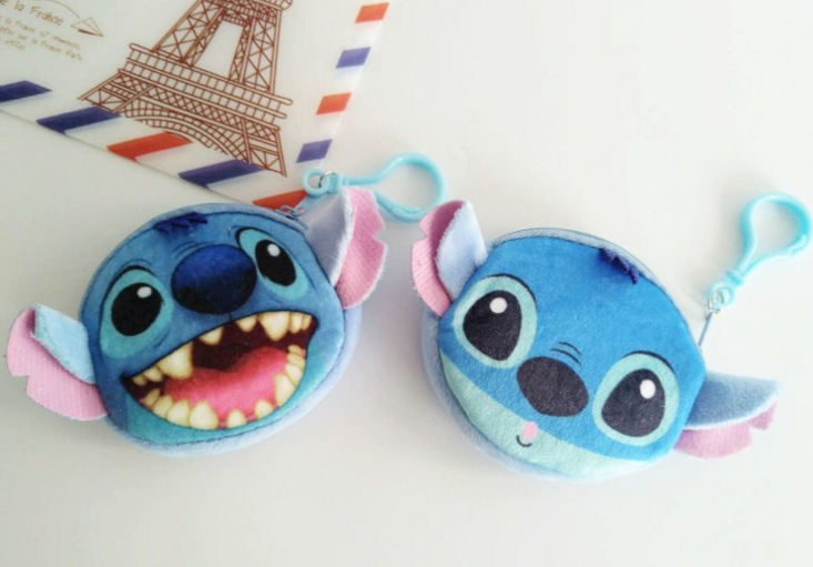 2019 New Cartoon 3D Lilo And Stitch 11CM Plush Purse For Kid/Lady Coin Purse & Wallet Pouch Case Bag
