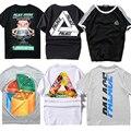 2017 palácio skates camiseta justin bieber 1:1 marca clothing T-shirt Das Mulheres Dos Homens de Hip Hop Kanye Tee Aptidão PALÁCIO Masculino TShirt