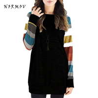 NORMOV S 5XL Pullover Sweater Winter Women Digital Printing Knit Thin Clothes O Neck Polyester Loose