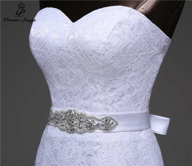 2018 cinto de cristal bandagem sexy sereia vestidos de casamento vestidos de noiva robe de mariage vestido de noiva frete grátis