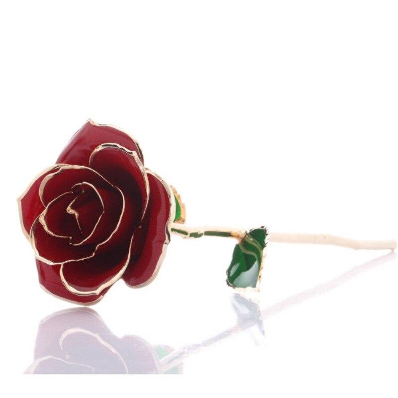 Langen Stiel Gold Getaucht 24 k Eternity Rose mit Transparent Mond Stehen Geschenk für Valentinstag, mutter der Tag, Jahrestag,