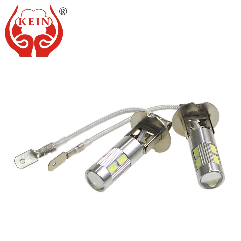 KEIN 4pcs LED H3 5630 10SMD HD Lens fog Bulb 12V Car Auto led DRL External