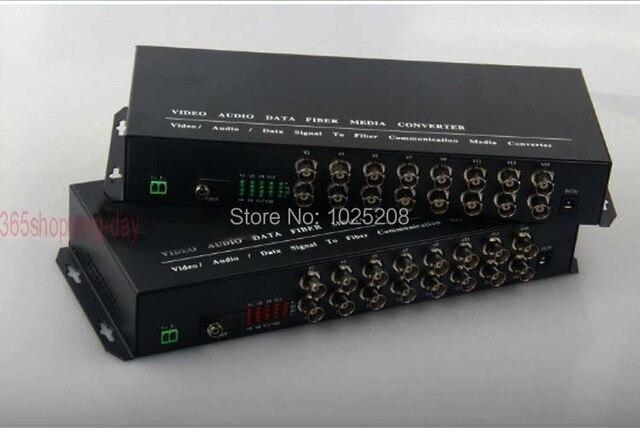 1 пара 16 канал видео данных, волоконно-оптические media converter, 16v1d, RS485 FC/Одиночный режим