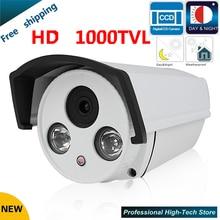 Новые камеры видеонаблюдения 1000 твл 1/3 «sony 960 h ccd высокое разрешение 2 ик пуля камеры наблюдения камеры безопасности