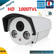 Newest CCTV Camera 1000 TVL 1/3″ Sony 960H CCD High Resolution 2 IR LED Bullet Camera Surveillance Security Camera
