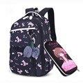 OKKID детские школьные рюкзаки для девочек Россия Рюкзак для начальной школы милый цветочный принт розовый рюкзак школьный книга для девочек ...