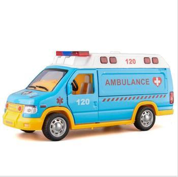 Ambulancia Coche De Metal Juguetes Juguete Diecasts Vehículos 1 Para Modelo Cm Niños 18 24 Y kwPX80nO