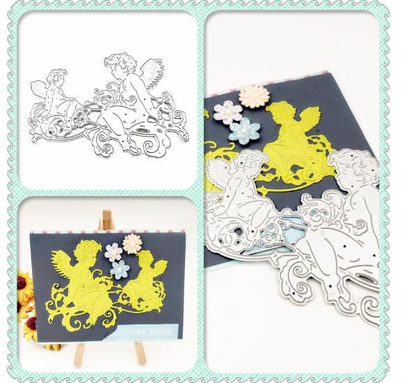 Transparent Seal for DIY Clear Silicone Stamps Scrapbooking Card Making Cartoon angel PVC Rubber Stamps Metal Cutting Dies in Stamps from Home Garden