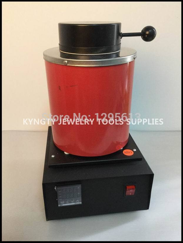 2KG Capacity Gold Electric Melting Furnaces with 1pc Graphite Crucible & Plier,Smelting furnace
