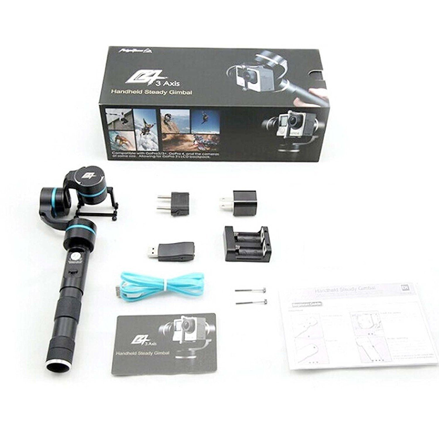 Feiyu FY-G4 Ultra 3-Axis Handheld Gimbal Stabilizer for Gopro Hero 4 /Hero 3 / Action Cameras feiyu tech fy g4s 3 axis 360 degree handheld steady gimbal for gopro hero 3 3 4 tv59