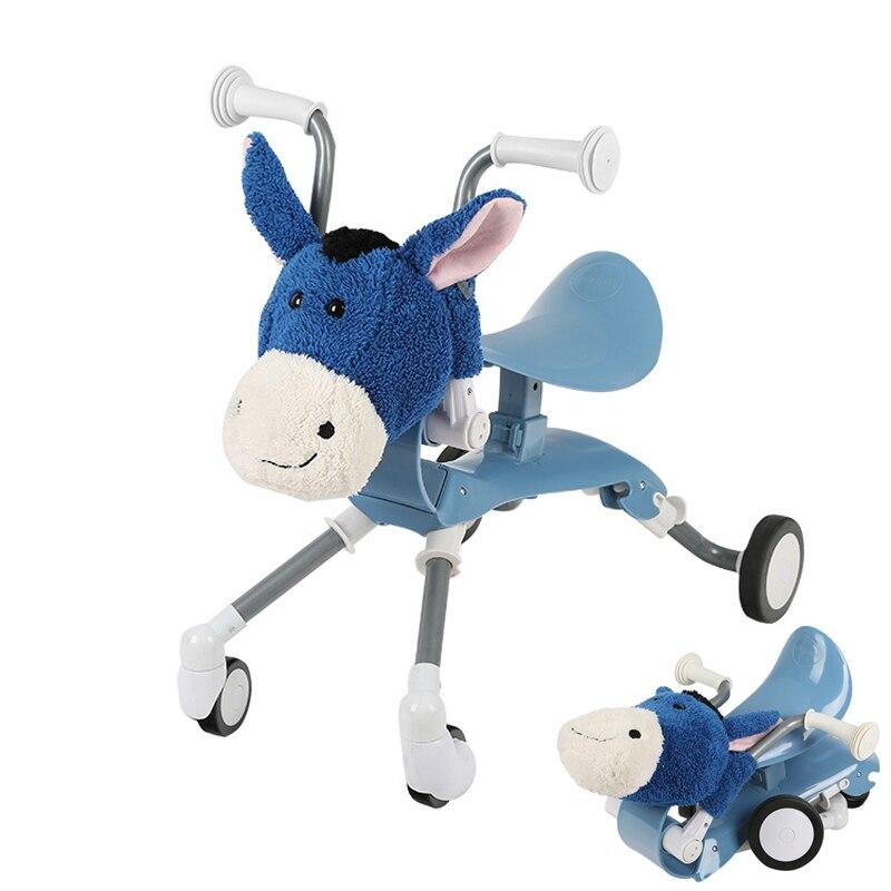 AGEKUSL Cartoon enfant enfants Scooter vélo vélo pliant infantile bébé marcheur antichoc cyclisme conduite sur les voitures jouet 1-4 ans