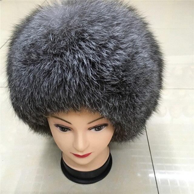 ac4bfcdc711ce 2016 novos modelos femininos inverno quente chapéu de pele de raposa  naturais