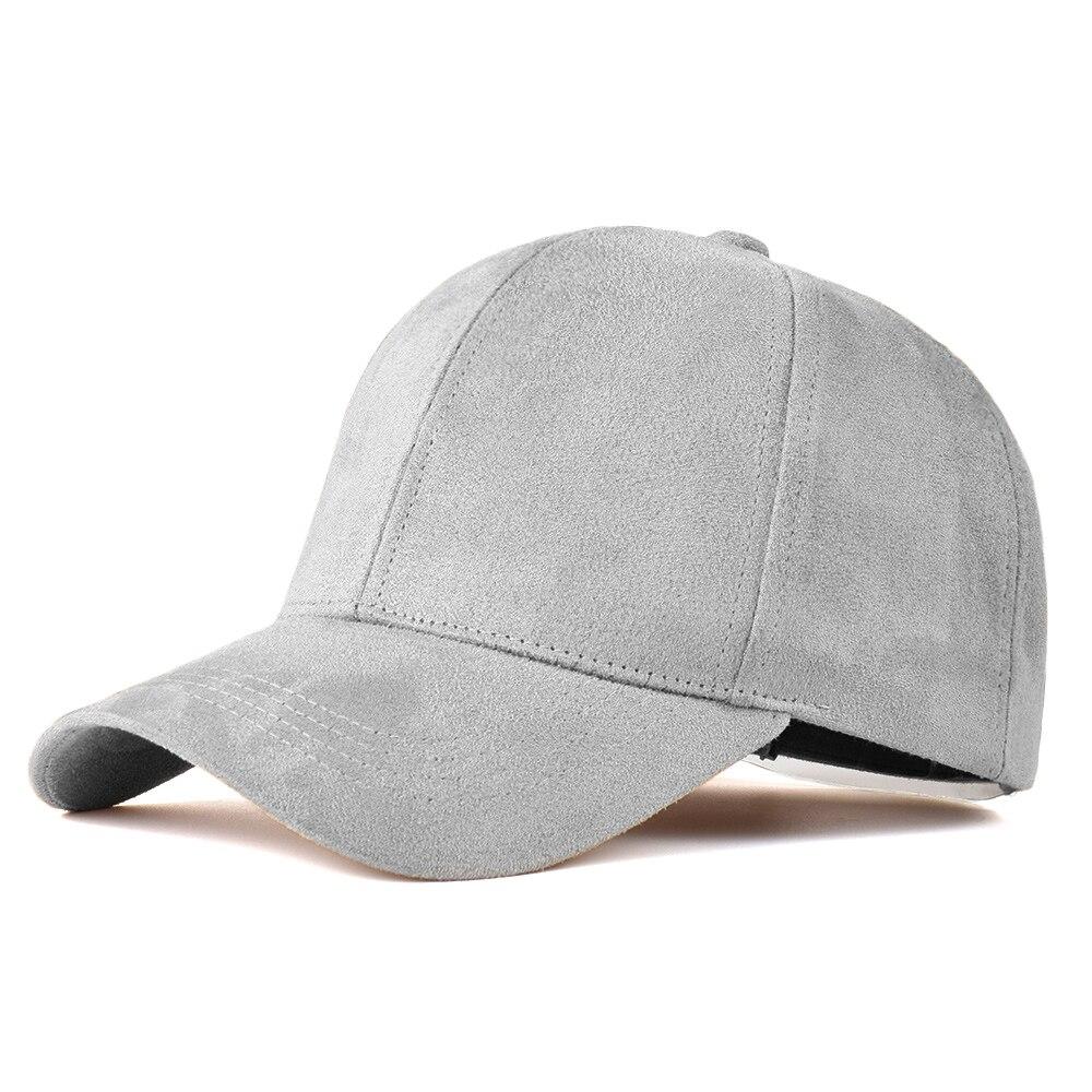 Suede Hats Baseball-Cap Snapback Street Grey Fashion-Brand Hip-Hop-Caps Black Women Ladies