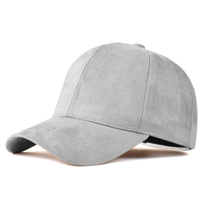 Fashion Brand snapback Baseball Cap Women Gorra cap Street Hip Hop Caps Suede Hats for Ladies Black Grey Baseball cap(China)