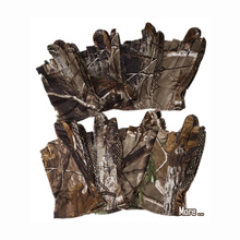 Camo Fishing Gloves Hunting Gloves Anti-Slip 3 Finger Cut Protector Camouflage