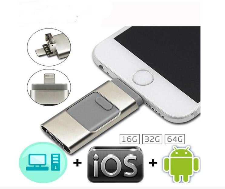 Pendrive 128GB For IPhone 6 6s Plus 5 5S Ipad Pen Drive HD Memory Stick Mobile OTG Micro USB Flash Drive 16GB 32GB 64GB