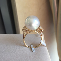Women Gift word 925 Sterling real The eccentric bottom ring permanent natural Nanyang 14 mm tiny flaw choker bts