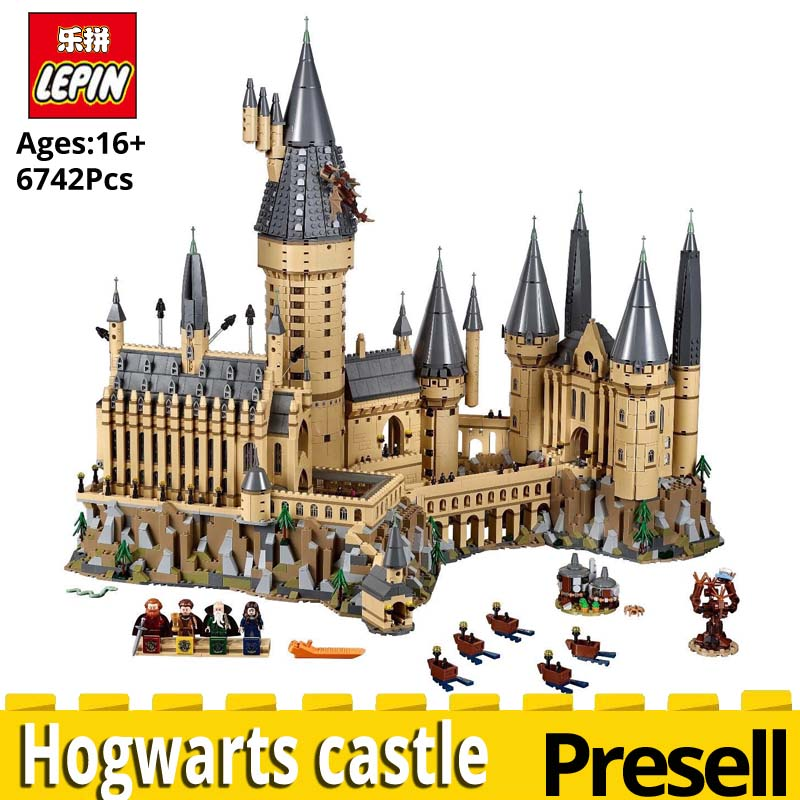 NEW Lepin 16060 Harry Movie Potter Compatible legoinglys 71043 Hogwarts castle Magic School Model Set Building toys for children creators building blocks dragon knight set compatible legoinglys harry potte castle magic architecture toys for children