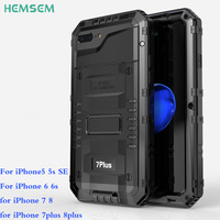 IP68 Shockproof Waterproof Case For IPhone 5 SE 6 7 8 Plus Case Built In Screen
