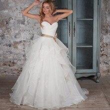 FANGDALING Wedding Dresses 2019 Bride Dress Gowns