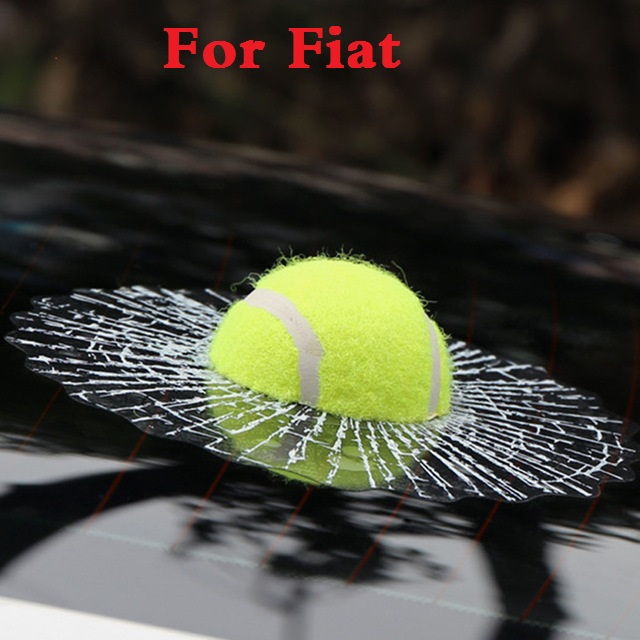 2017 NEW Car Body 3D Ball Hits Window Self Adhesive Tennis Decal Stickers for Fiat Palio Panda Sedici Seicento Siena Stilo 4pcs new for ball uff bes m18mg noc80b s04g