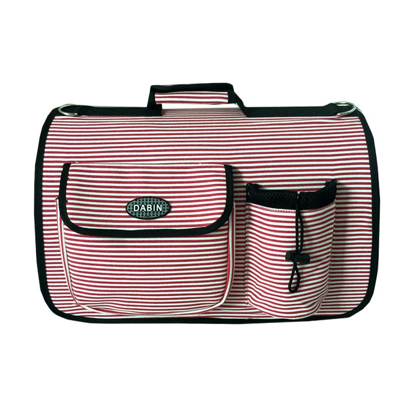 Free Ship Striped Canvas Pet Dogs Carrier Bag Sling Or Hand Dogs Fashion Bag