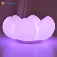 Lumiparty Thịt Lưu Trữ Hoa LED Night Light Các Loài Xương Rồng USB Bảng Đèn Sạc Silicone Floral Điều Khiển Cảm Ứng Đèn Ánh Sáng