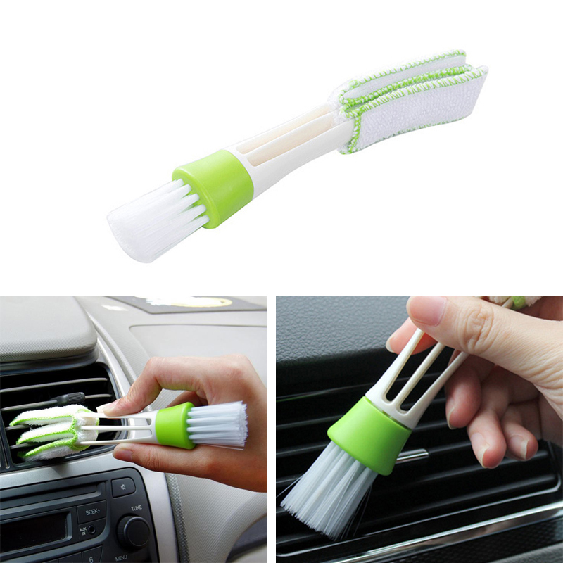 Car Cleaning Brush Auto Microfiber Duster Tool For <font><b>Audi</b></font> A3 A4 A5 <font><b>A6</b></font> A7 A8 B6 B7 B8 <font><b>C5</b></font> C6 TT Q3 Q5 Q7 S3 S4 image