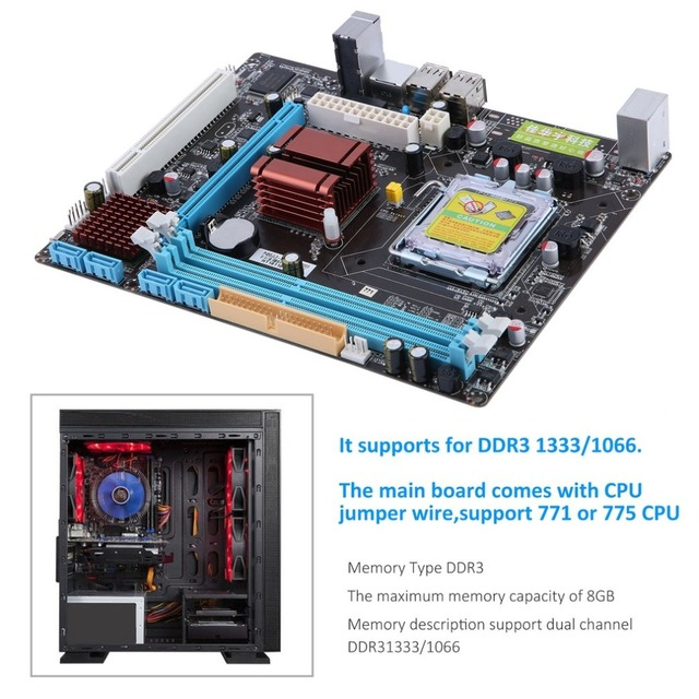 P45 Motherboard Computer Fast Ethernet Mainboard 771/775 Dual Board DDR3 8GB Support L5420 High Compatibility Drop Shipping 2