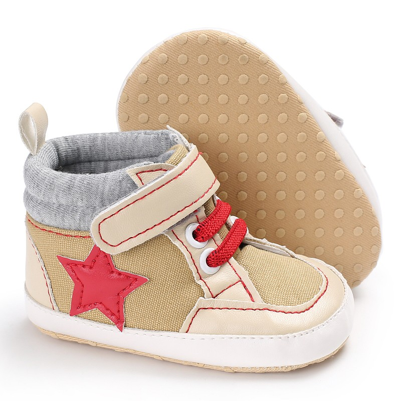 Autumn Winter Stars Printed Classical Canvas Baby Moccasins Boys Girls Casual Soft Sole Shoes First Walkers 0-18M