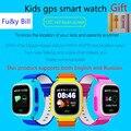 Nuevo q90 q80 moda niños reloj gps de posicionamiento del teléfono sos pantalla táctil a color de 1.22 pulgadas smart watch pk q50 q60